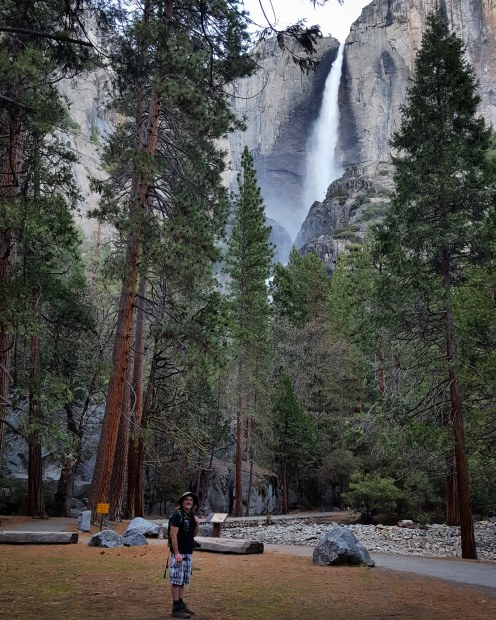 Wedding spot at the base of Yosemite Falls!